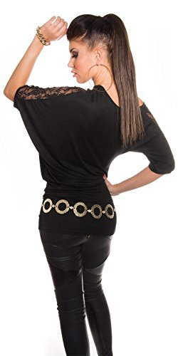 In-Stylefashion - Débardeur - Femme Marron Marron Medium Noir - Noir