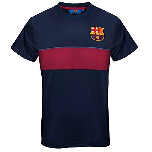 Camiseta oficial del F.C. Barcelona de poliester, con los colores de casa. Escudo del club en color y texto impreso en el pecho. Tallas:S 96,5 cm; M 101,6 cm; L 106,6 cm; XL 111,7 cm; XXL 116,8 cm; 3XL 122 cm. Camiseta de alta cal...