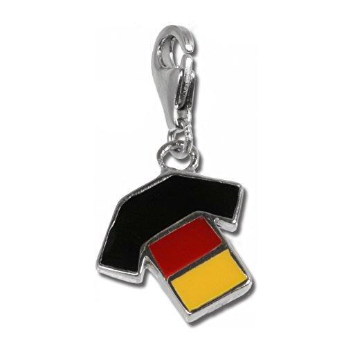 Rabatt-trikots (SilberDream Charm 925 Silber Anhänger mehrfarbig Trikot Deutschland FC701)