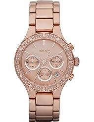 DKNY Damen-Armbanduhr Chronograph Quarz Edelstahl beschichtet NY8508