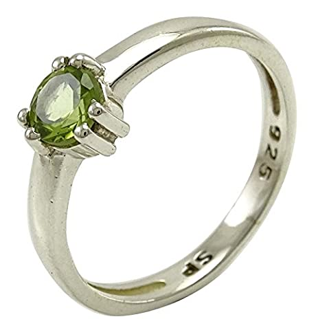 Banithani Peridot Stone 925 Sterling Silver Ring Indian Band Cocktail Jewellery Gift For Her