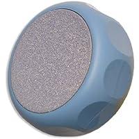 Erlinda - Rubbi Rub keramische Fußraspel, rund Ø 8 cm, mit eingelassenen Griffkerben, hellblau preisvergleich bei billige-tabletten.eu
