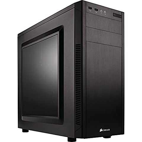 Corsair Carbide CC-9011075-WW Case per PC Mid Tower ATX, Nero, 100R, con Finestra - Cc Forma
