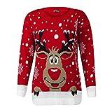 semen Damen Pullover Christmas Sweater Weihnachten Motive Festlich Winter Strickpullover Langarmshirt Xmas Winterpullover Winterpulli