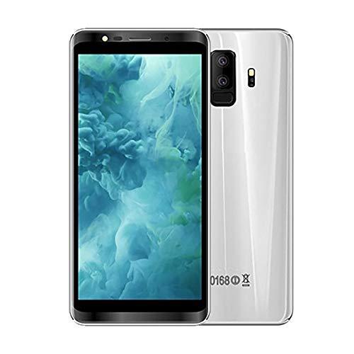 Fulltime E-Gadget Intelligentes Telefon, freigesetzter Excelay S9 + Android 8.0Smartphone Doppel-SIM Viererkabel-Kern 512 + 4GCell Telefon GPS 5MP handlich (Silber)