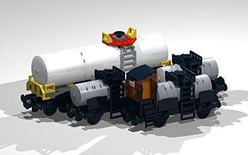 1 Moc (4-Wheel and 8-Wheel Tank Wagons: Lego MOC building instructions (Lego Train MOC Plans Book 1) (English Edition))