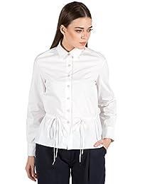 c0d8bec2d0c152 GENES - Lecoanet Hemant white Stretch Poplin Shirt