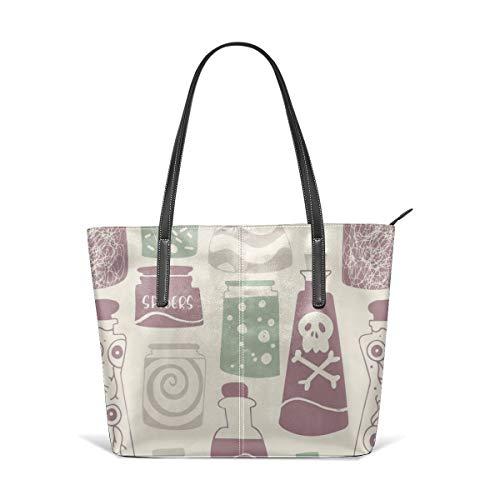 Magic Potions Helle Farben Leder Tote Große Geldbörse Schultertasche Tragbare Aufbewahrung Handtaschen Praktische Shopper ()