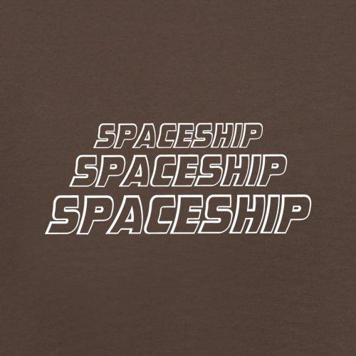 Space Ship - Herren T-Shirt - 13 Farben Schokobraun