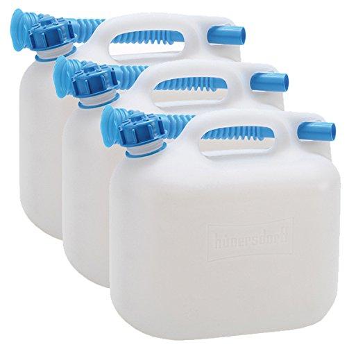 3 Wasserkanister ECO 6 Liter im 3er Set Fassungsvermögen mir blauen Auslaufrohr