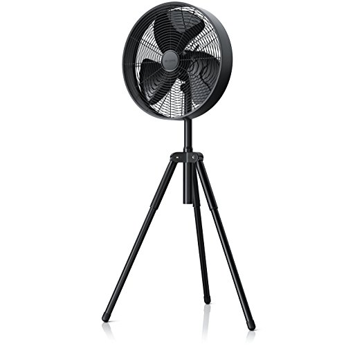 Brandson - Ventilador de pie de 50 W | Elevado caudal de Aire | 3 velocidades | Diámetro de 40 cm | Altura del pie Regulable Unos 10cm | Ruido moderado (máx. 58 dBA) | Función de oscilación