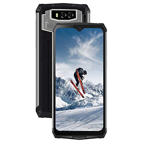 Outdoor Handy 13000mAh, Blackview BV9100 Smartphone IP69K Wasserdicht Stoßfest, 16MP+16MP Megapixel mit 4GB + 64GB Speicher, 6,3 Zoll FHD+ Dual SIM 4G, 30W Schnellladung, Android 9.0, NFC(Silber)