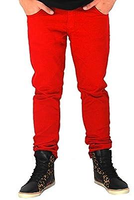Kayden K Skinny Leg Twill Jeans Red