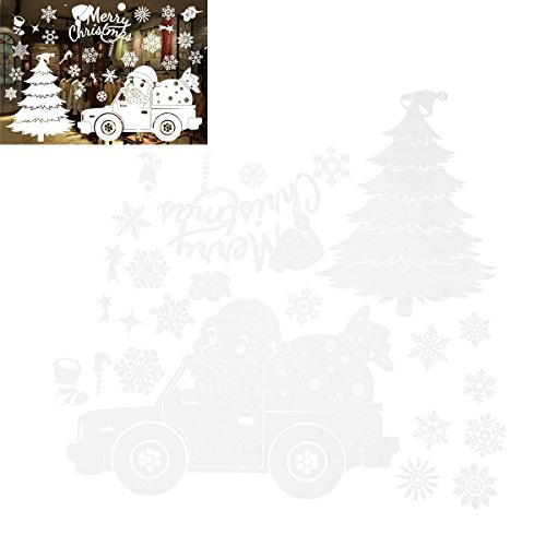 BESTOYARD Weihnachten Fensteraufkleber Wandtattoos Weihnachten Fenster klammert Urlaub Party gefallen (Weihnachten Autos)