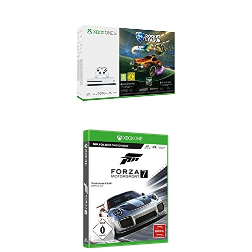Xbox One S 500GB Konsole - Rocket League Bundle + Forza Motorsport 7