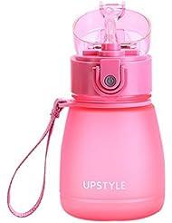 Suction Pipe Scrub Simple Cute Plastic Pratique Multifonctionnel Travel Mug Rose