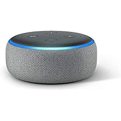 Echo Dot (3rd Gen) - Smart speaker with Alexa - Heather Grey Fabric