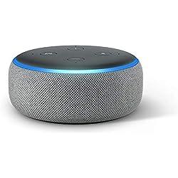 Nouvel Echo Dot (3ème génération), Enceinte connectée avec Alexa, Tissu gris chiné