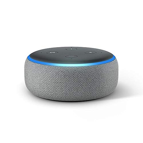 All-new Echo Dot (3rd Gen) - Smart speaker with Alexa - Heather Grey Fabric