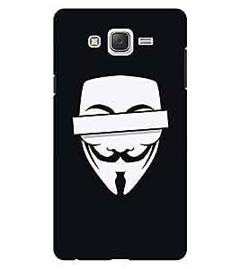 Chiraiyaa Designer Printed Premium Back Cover Case for Samsung Galaxy On7 (Joker vendetta mask) (Multicolor)