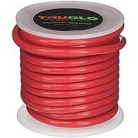 Tubo de silicona TruGlo Peep, 25 'de longitud, rojo