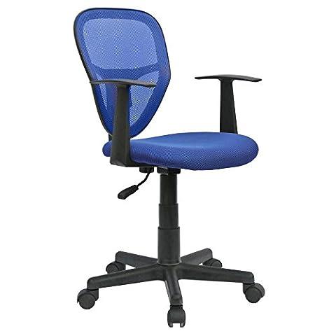 Schreibtischstuhl Kinderdrehstuhl Bürostuhl Drehstuhl STUDIO in blau mit Armlehnen,