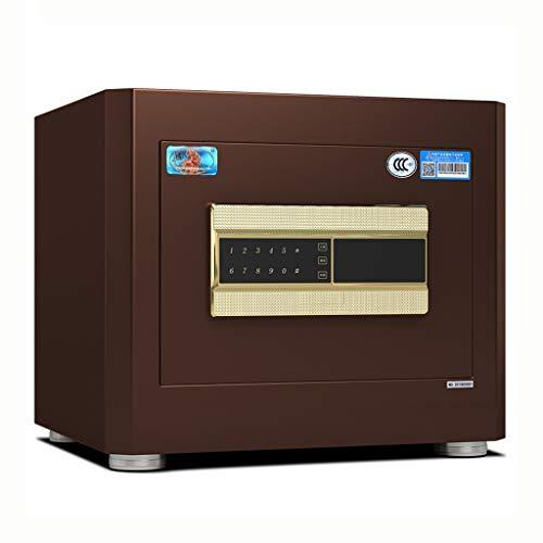 Yale Lock Metall Safe Home Fingerprint Safe büro Passwort Box smart diebstahlsicherung intelligente automatische sperre (Color : Brown, Size : 43 * 35 * 38cm)