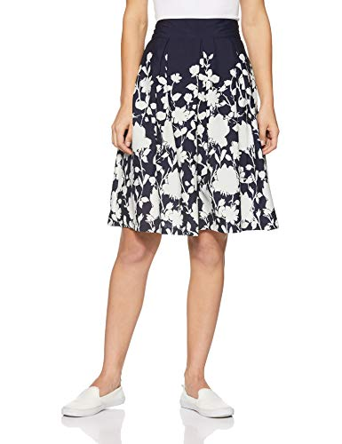 Harpa Women's A-Line Skirts (GR2670_Navy_28)