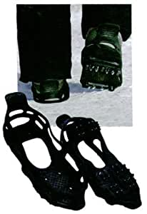 "Streetwize Size 6-9 ICE SNOW SPIKES GRIPS GRIPPERS ANTI SLIP CLEATS FOR SHOES BOOTS OVERSHOE - This the ""Jelly Mould Rubber"" Version, By far the best we have tried!"