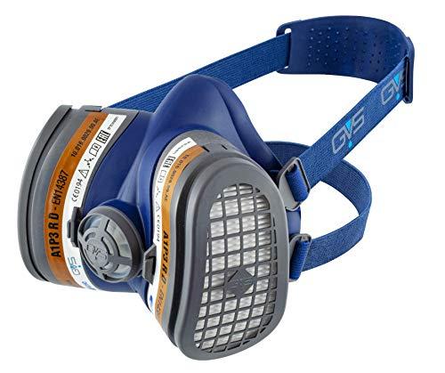 GVS Filter TECHNOLOGY SPR504 Elipse A1P3 Halbmaske mit wartungsfreien Standfiltern M/L blau -