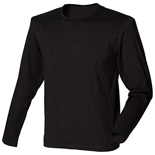 Skinni Fit T-shirt stretch à manches longues et col ras du cou pour homme