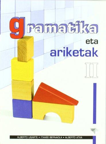 Portada del libro Gramatika eta ariketak II: i.by2 proiektua