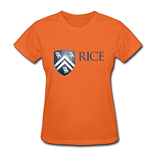 AdamimyClay® Custom O-neck Causal Rice University Damen T Shirts [Large] (Wake Forest-player)