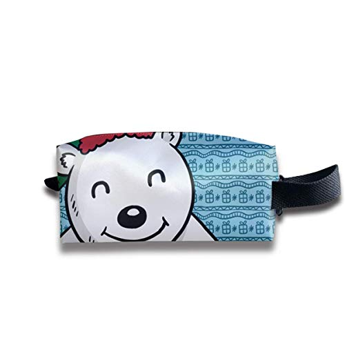 Cartoon Holding Ceremony Box Polar Bear Women Cosmetic Bag Travel Girls Oxford Toiletry Bags Lovely Portable Hanging Organizer Makeup Pouch Pencil Case