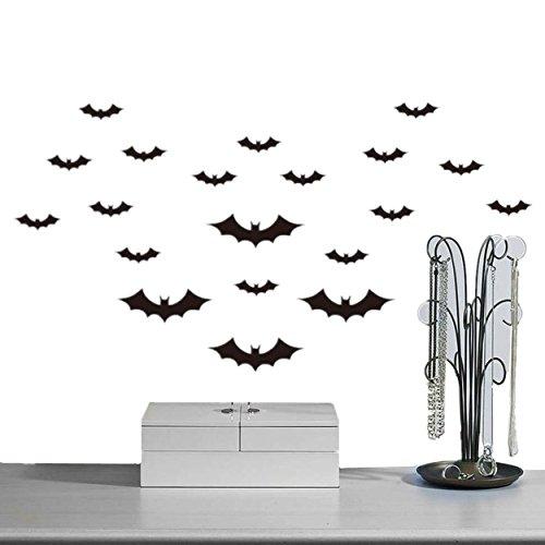 Yogogo DIY PVC-Bat-Wand-Aufkleber-Abziehbild-Ausgangs Halloween (Diy Spukhaus Requisiten)