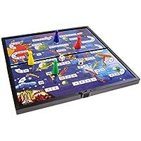 Juego de mesa magnético (tamaño compacto de viaje): Aventura en el espacio - piezas magnéticas, tablero plegable, 19cm x 19cm x 1cm, Mod. SC6606 (DE)
