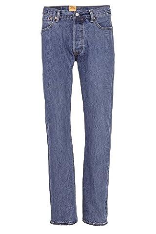 Levi's Jean Droit 501 ORIGINAL FIT 193 MEDIUM STONEWASH, Couleur: Bleu clair, Taille: 38/32