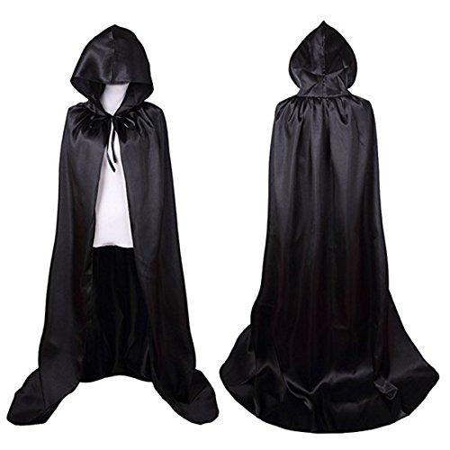 Unisex Damen Herren Mantel Vampir Golden Wicca Robe Sorcerer Cloak Cape für Halloween Party Kostüm (Halloween Girls Golden Kostüme)