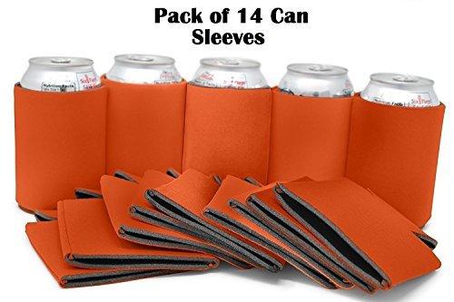 Blanko können Ärmel-Bulk Set von 14Bier Sleeve/Neopren Ärmeln-für kann/Bier Kühler 12-16oz-Extra dicke Neopren mit genähtem Stoff Kanten-Ideal für Hochzeiten, Partys, BBQ-von ombrace