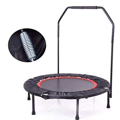 Wxjwpz trampolino lettino da fitness pieghevole con manico kids adulti indoor/outdoor (52in) carico massimo 150kg