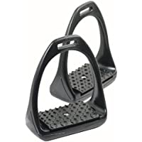 PFIFF 100206-60-Full - Estribos de hierro y tacos para caballo, color negro, talla Warmblut/Full