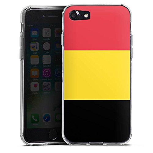 Apple iPhone X Silikon Hülle Case Schutzhülle Belgien Flagge Fußball Silikon Case transparent