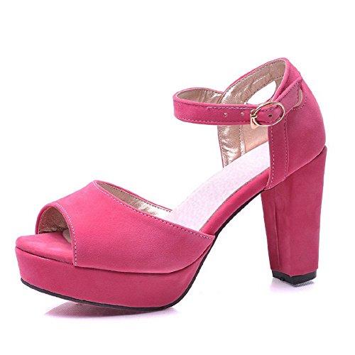 Adee Formale rutschfestem Frosted Damen Sandalen Pink
