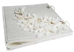 Flaura Extra Large Colore Bianco Rilegato a Mano Album Fotografico, Stile Classico Pages (40cm x 33cm x 5cm)
