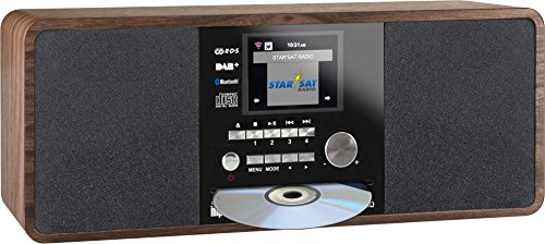 Imperial 22-235-00 Dabman i200 Internet-/DAB+ Radio mit CD-Player (Stereo Sound, UKW, WLAN,  Aux In, Line-Out, Kopfhörer Ausgang, Inklusiv Netzteil) braun (Radio Mit Digital Cd-player)
