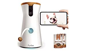 Furbo Dog Camera: Treat Tossing, Full HD Wifi Pet Camera with 2-Way-Audio, Treat Tossing and Barking Alert, Designed for Dogs, Compatible with Alexa (as seen on Ellen)