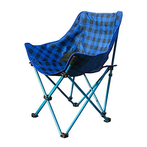 ZSLLO Campingstuhl Outdoor ultraleichte tragbare Oxford Tuch klappstuhl hocker Rutschfeste Camping Angeln Stuhl Skizze Stuhl Freizeit mittagspause Netzwerk garn mond Stuhl lehnstuhl (blau) Klappstuhl