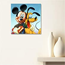 AUX Prix Canons–cuadro lienzo Canvas Disney Mickey Mouse Pluto 40x 40cm