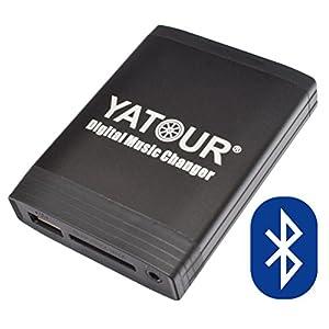 Yatour - Cargador digital de MP3 con cable USB (Toyota: Auris, Avensis T25 03-09, Corolla (Verso) 120 04-09, Hilux a partir de 04, RAV4 06-11, Yaris XP9 06-11, Lexus: IS 05-09, GS 05-09, RX 04-09, SC 430, Bluetooth, función manos libres)