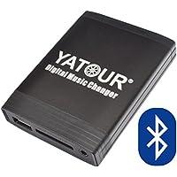 Yatour - Adaptador y manos libres Bluetooth para radios de coche RD4, RT3 (Software desde 6.x), RT4 Radio citroen C2 , C3 (Pluriel), C4 (Picasso), C5, C6, C8, Berlingo, Jumpy, Peugeot 207, 307, 308, 407, 607, 807, 1007, 4007, 5008, Partner y Expert (USB, SD, AUX, MP3)